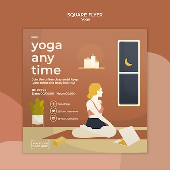 Tema modello yoga volantino