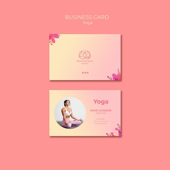 Yoga lessons business card template