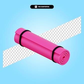 Yoga mat 3d render illustration isolated