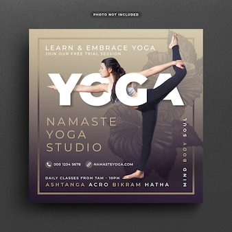 Yoga post banner or template