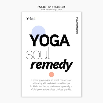 Yoga soul remedy poster template