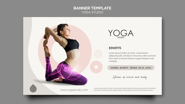 Yoga studio banner template