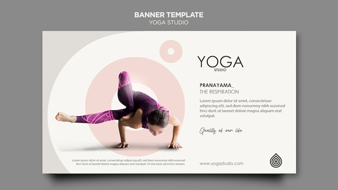 шаблон баннера студии йоги