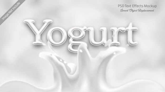 Yogurt 3d text effect