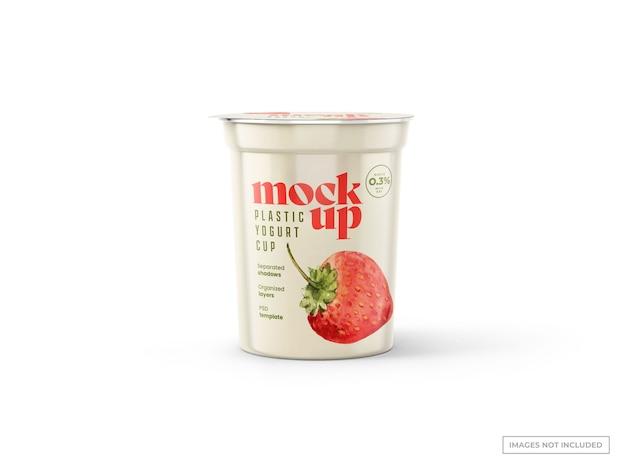 요거트 컵 모형