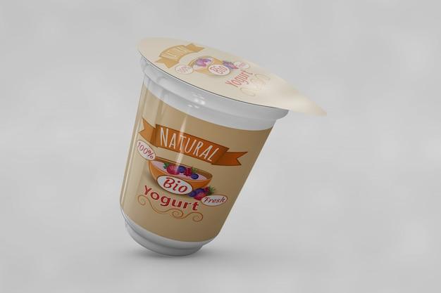 Imballaggio yogurt mockup
