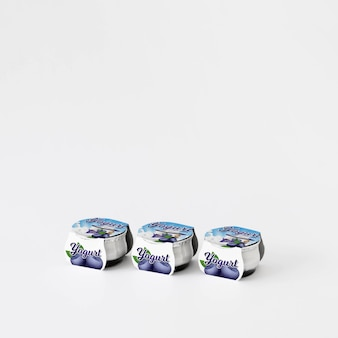 Yogurt packaging mockup