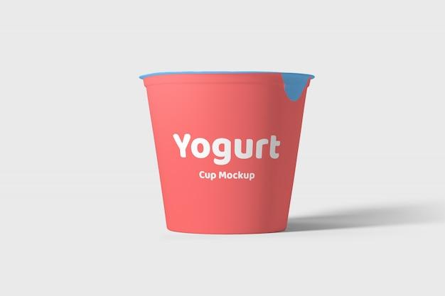 Йогурт упаковка макет