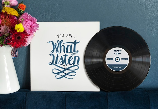 You are what you listen to vinyl mockup