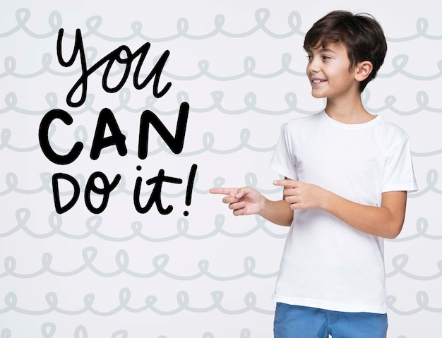 You can do it young cute boy mock-up