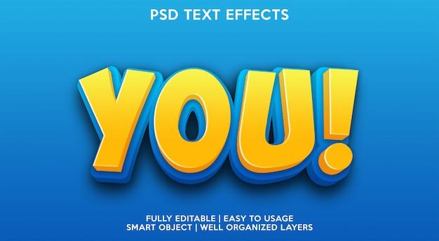 Шаблон текстового эффекта you