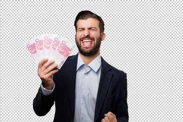 Young businessman listening