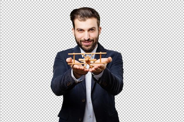 若い、ビジネスマン、携帯電話