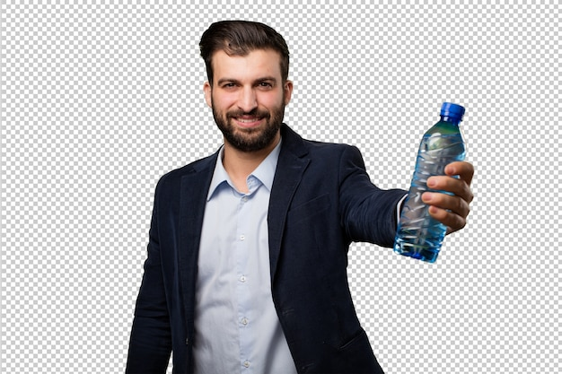 Young businessman with a mobile phone