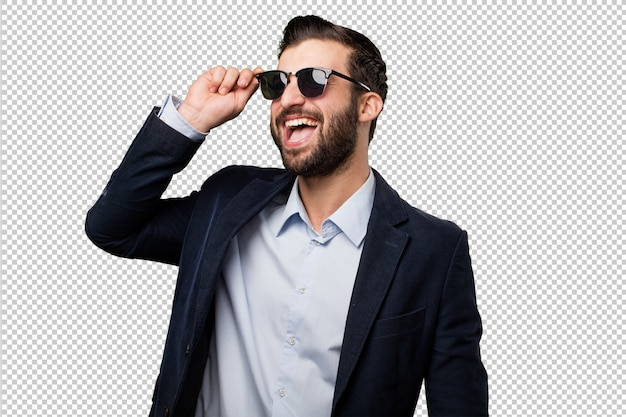 Young businessman with sun glasses