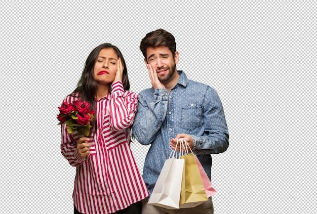 バレンタインの日に絶望的な悲しいカップル