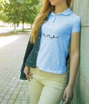 Young girl wearing uniform