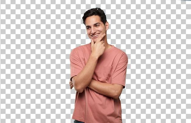 Молодой красивый латинский человек поражен или шокирован выражением