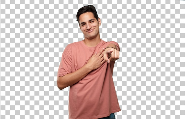 若いハンサムなラテン男。愛のコンセプト