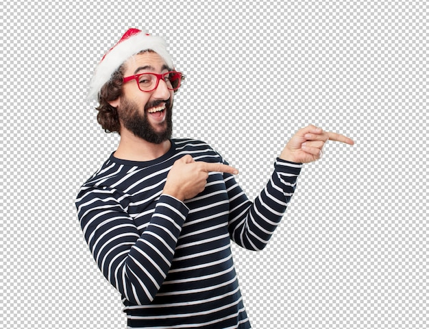 Young man christmas concept