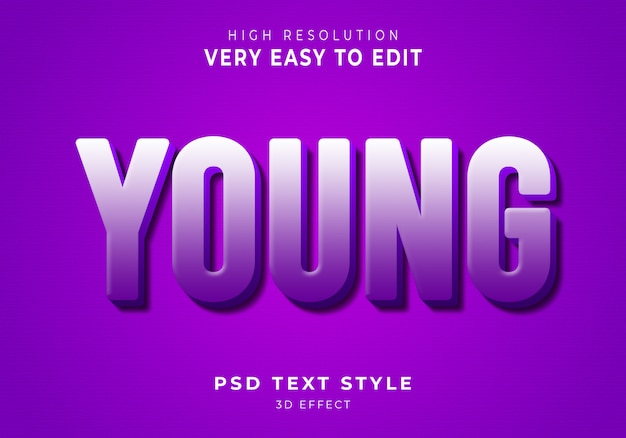 Young modern text effect