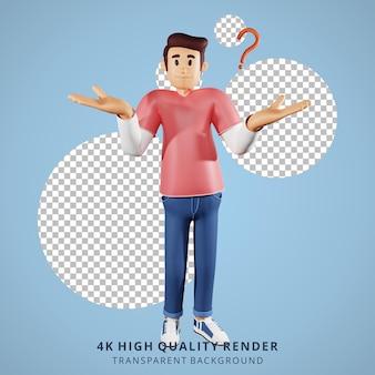 Молодые люди ничего не знают 3d иллюстрации персонажей