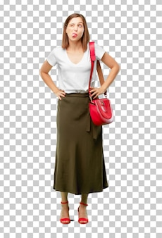 Young pretty and elegant woman cut out ready to place into your