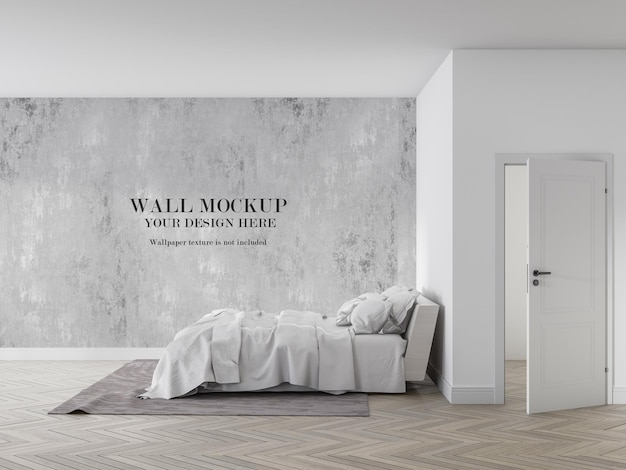 ベッドの側面から見たデザインのモックアップ