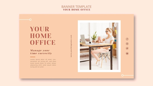 Your home office banner template