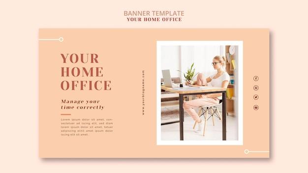 Il modello di banner del tuo ufficio a casa