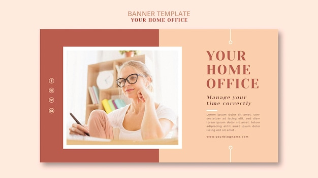 Your home office banner theme