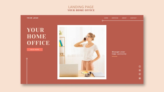 Дизайн целевой страницы вашего домашнего офиса