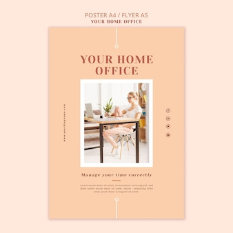 Your home office poster template