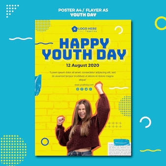 Youth day event poster style