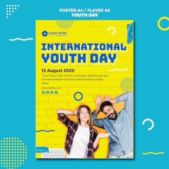 Youth day event poster template