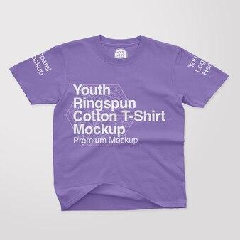 청소년 ringspun 코튼 티셔츠 모형