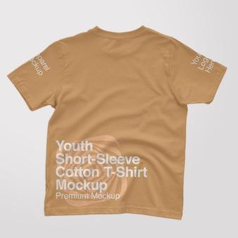 Youth shortsleeve cotton back tshirt mockup