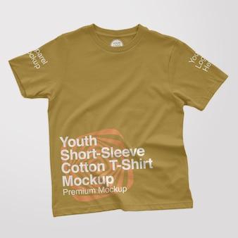 청소년 shortsleeve 면 티셔츠 모형