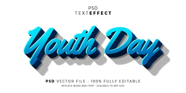 Youth text and font effect style