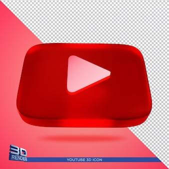 Youtube 3d визуализации значок изолированные