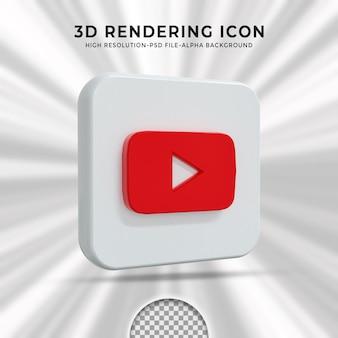 Youtube glossy logo and social media icons