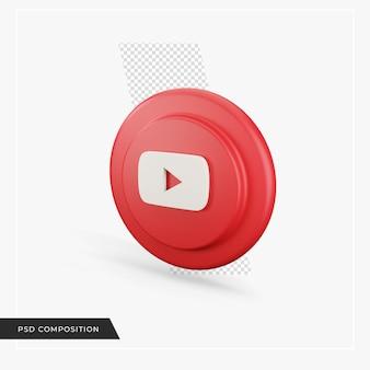 3d 렌더링의 youtube 아이콘
