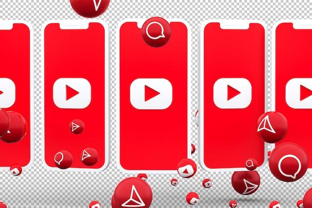 Значок youtube на экране смартфона и реакция на youtube