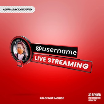 Youtube live streaming 3d render