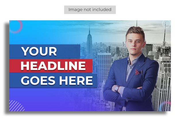 Youtube thumbnail for business promotion workshop template
