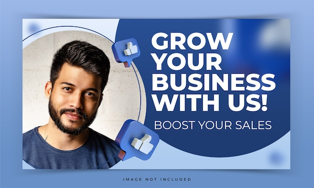 Youtube thumbnail for facebook internet marketing workshop promotion template