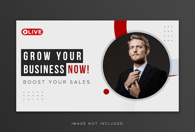 Youtube thumbnail for workshop business promotion template