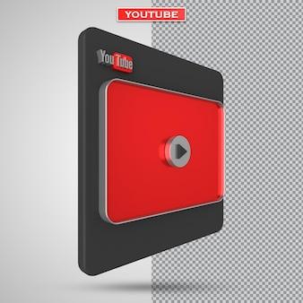 Youtube 비디오 플레이어 3d 화면 디자인 또는 비디오 미디어 플레이어 인터페이스