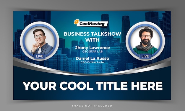 Youtube video thumbnail for internet marketing online workshop promotion template