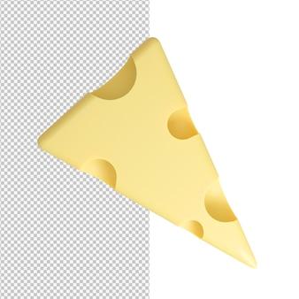 고립 된 치즈의 맛있는 맛있는 조각